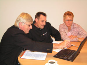 Doornemen ondernemingsplan met bedrijfsadviseur van Formule Partner